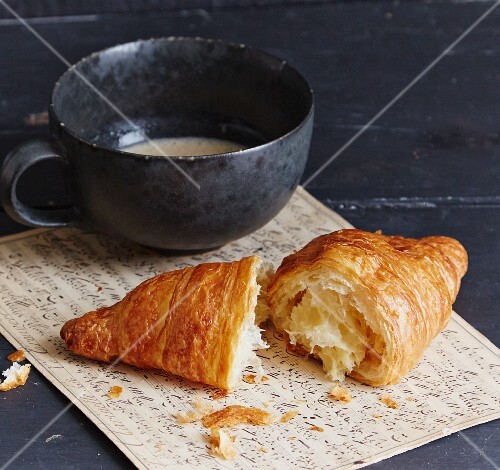 A croissant served with coffee