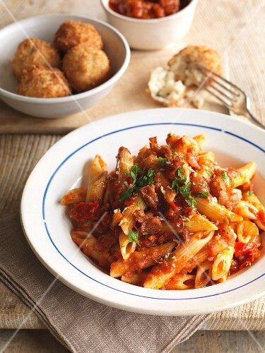 Penne all'arrabbiata (spicy pasta dish, Italy)