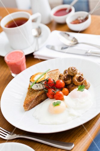A vegetarian breakfast at the Trevouse Harber House Hotel in St Ives