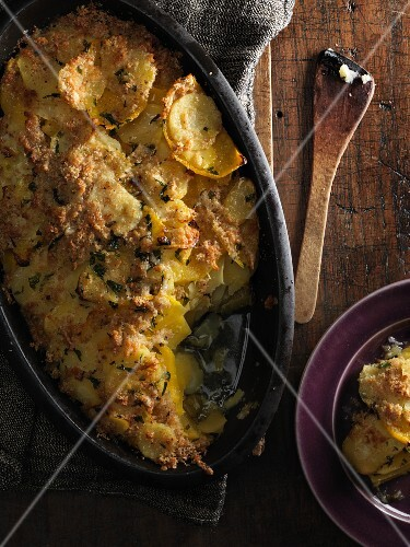Turnip and parsnip gratin