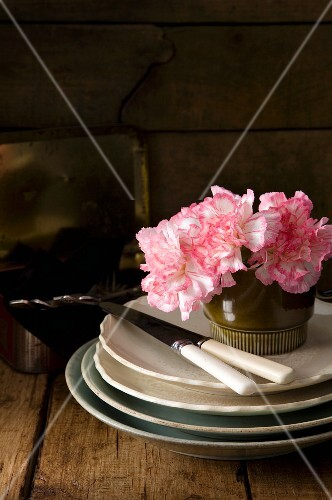 Dishes and Flowers