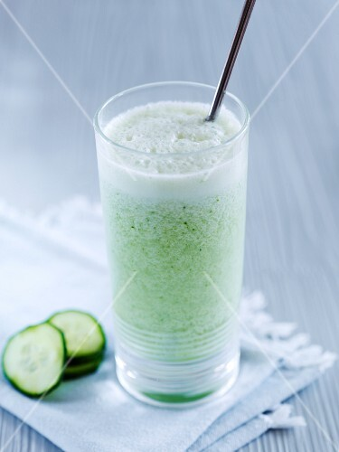 A cucumber smoothie