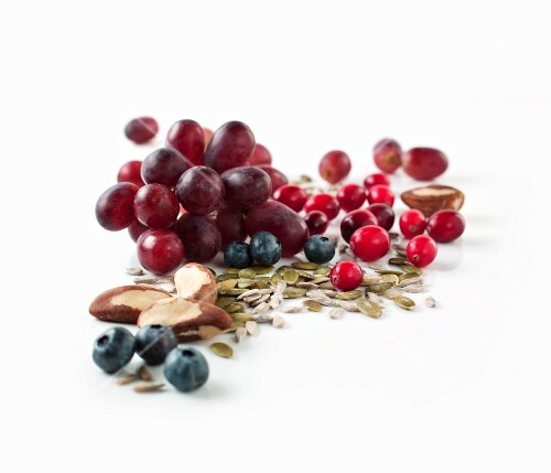 Grapes, berries and seeds
