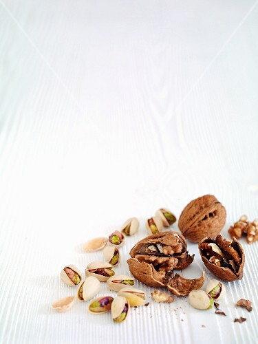 Walnuts and pistachios