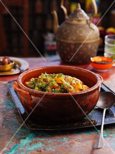 Pork and sweet potato tagine (North Africa)