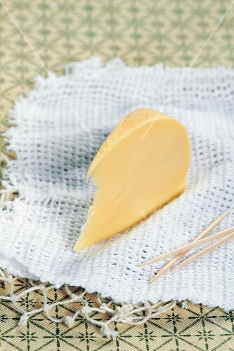 A wedge of cow's milk cheese from Galicia