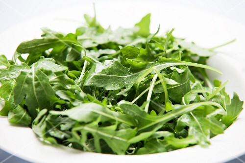 A bowl of fresh rocket