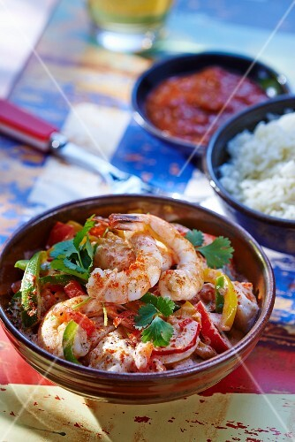 Moqueca Baiana (fish stew with coconut milk and palm oil, Brazil)