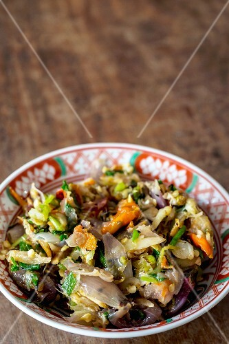 Vegetables and fermented fish (Vientiane, Laos)