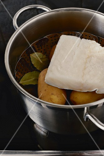 Ingredients for bolhinos de bacalhau (Portugal)