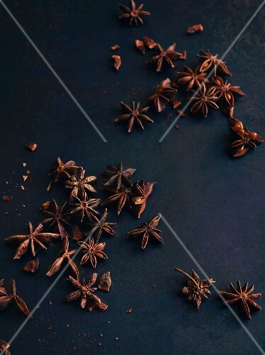 Star anise on a dark surface