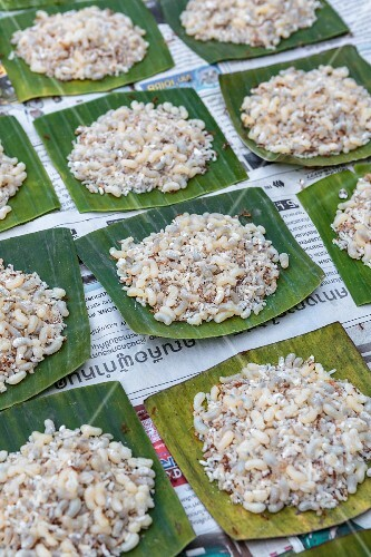 Ant eggs at a market, Thailand