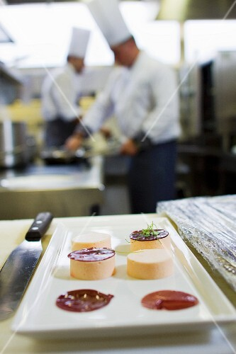 Tartlets in a commercial kitchen