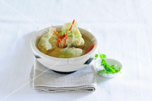 Won tons in broth (Asia)