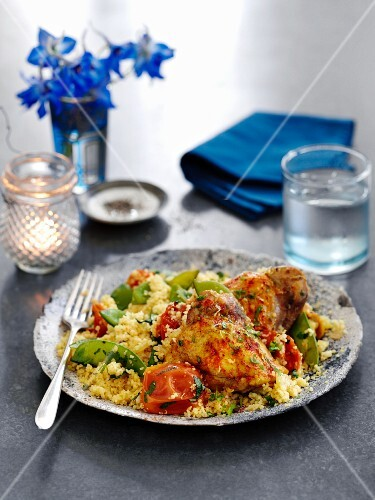 One pot chicken with couscous and vegetables