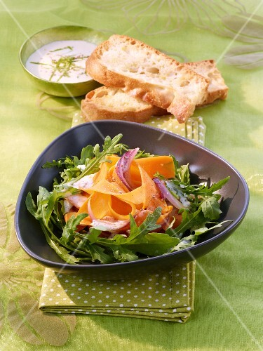 Carrot salad with a chai and yoghurt dressing