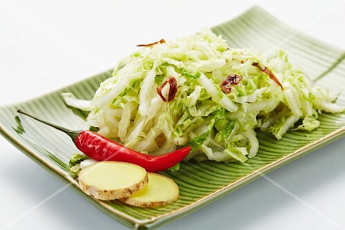 Chinese cabbage salad with ginger (Asia)