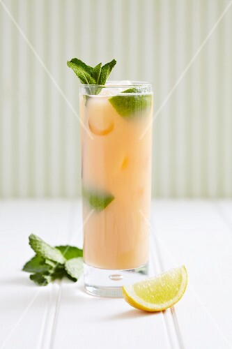 Elderflower Cooler with rum, lemon, honey and mint leaves
