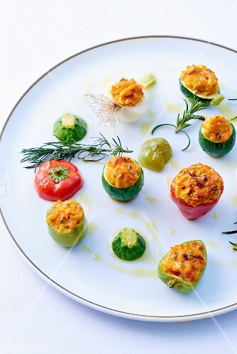 Mini stuffed vegetables