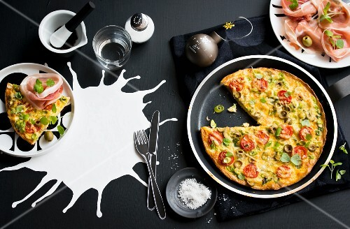 A colourful frittata and Parma ham