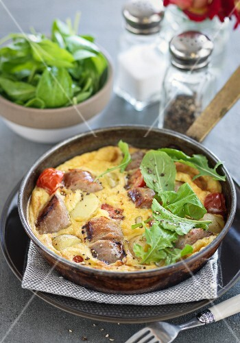 Sausage omelette