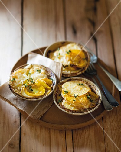 Potato and pumpkin gratin