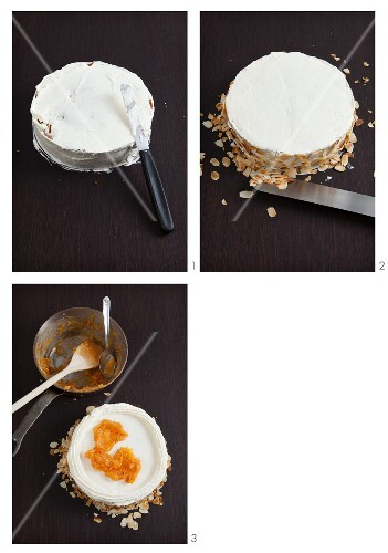 Blood orange tart (Sicily, Italy) being made