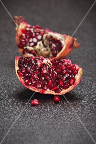 Pieces of pomegranate