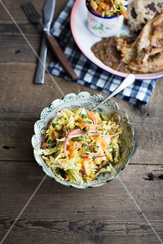 Pineapple, carrot and coriander coleslaw