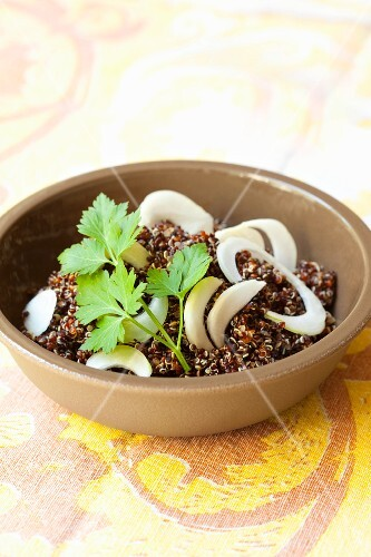 Quinoa with young onions and parsley