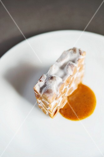 Nougat from the restaurant Mugaritz in San Sebastián, Spain