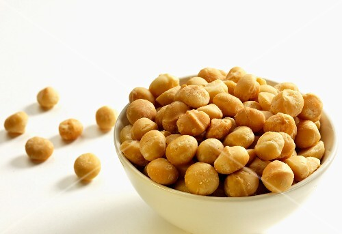 A bowl of macadamia nuts