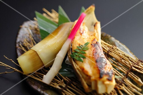 Grilled bamboo shoots with miso (Japan)