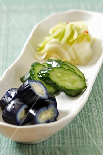 Pickled cucumber and Chinese cabbage (Japan)