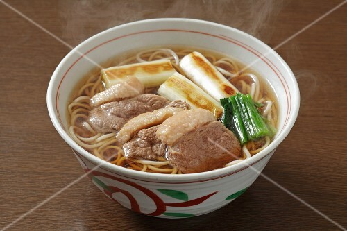 Soba noodle soup with duck breast (Japan)