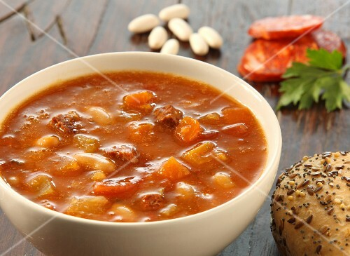 Bean soup with chorizo