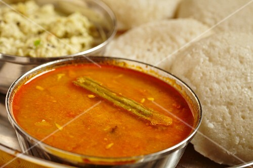Sambar (vegetable soup, South India)