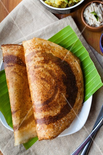 Dosa (lentil and rice pancakes, India)