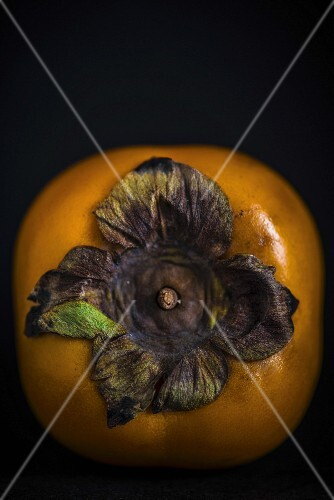 A persimmon (close-up)