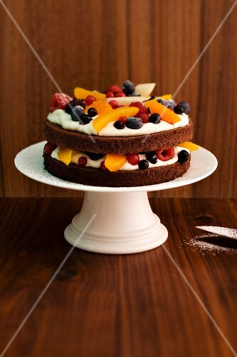 A Christmas cakes with rum-soaked fruits