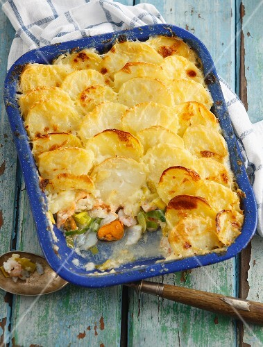 Fish and potato bake