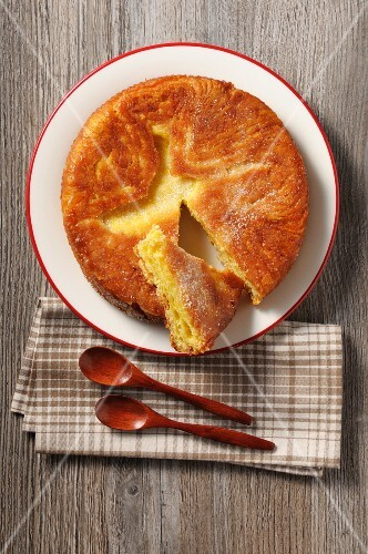 Kouign Amann (cake made from crêpe and brioche dough, France)