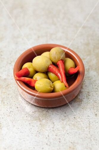 Olives stuffed with piri-piri