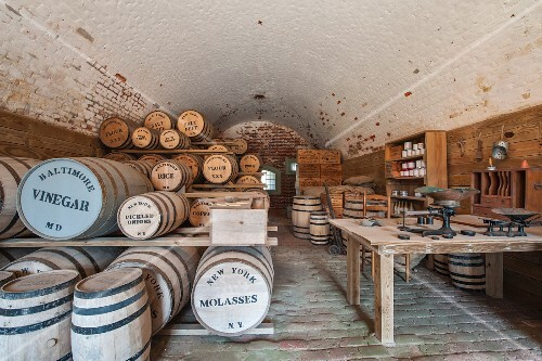 A storage room at Fort Macon State Park, Atlantic Beach, USA