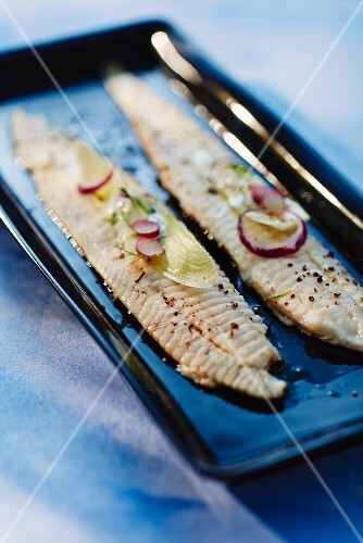 Marinated sole fillets