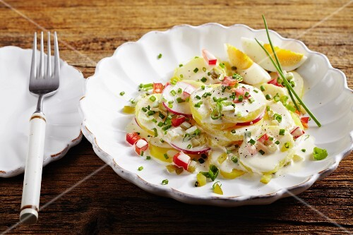 Potato salad with radishes