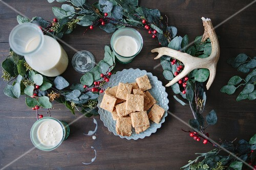 Biscuits and eggnog (Christmas)