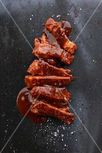 Spare ribs in barbecue sauce