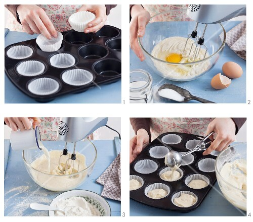 Muffins or cupcakes being made