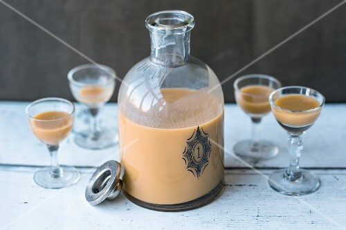 Homemade milk coffee liqueur